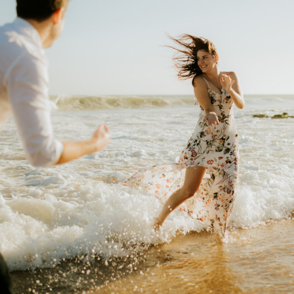 Sheila & Josh // A beach engagement in Cascais